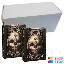 BICYCLE ALCHEMY 1977 ENGLAND 12 DECKS PLAYING CARDS BOX CASE SKULL USPCC NEW