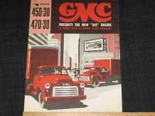 1952 GMC Trucks Models 450-30,470-30 Sales Brochure CDN