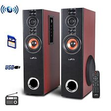 BEFREE SOUND 2CH BLUETOOTH WIRELESS POWERED TOWER SPEAKERS SYSTEM USB MP3 PLAYER