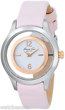 Kenneth Cole Ladies White Dial Pink Leather Band Dress Watch KC2859