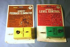 Vtg Walco Guitar Effects Pedals: Auto Level Control & Feedback Eliminator - NOS