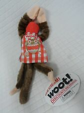 NEW Flying WOOT Screaming Monkey Toy Red Hat/Cape Picnic Table Cloth PLAID Nwt