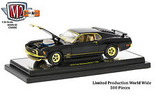 Chase 1970 FORD MUSTANG MACH 1 428 BLACK 1/24 DIECAST MODEL CAR BY M2
