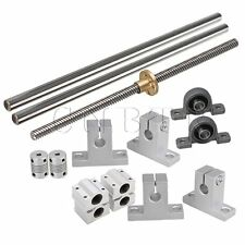 15x Horizontal 8mm Lead Rod 200mm Optical Axis Dual Rail Support Bearing Shaft