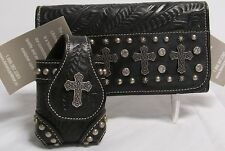 *NWT*American West Tri-fold Wallet & Cell Phone Holder *ROCK STAR Collection*