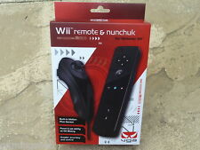 NINTENDO Wii REMOTE & NUNCHUCK PACK Black NEW!! Wiimote Motion Plus Game Control