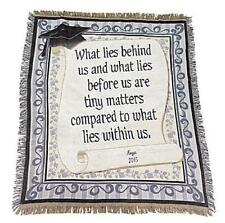 "Personalized What Lies Within Us Cotton Throw Blanket Graduation Gift 60""L NEW"