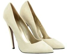 MORI MADE IN ITALY SKY HIGHEST HEELS PUMPS SCHUHE SUEDE LEATHER BEIGE NUDE 44