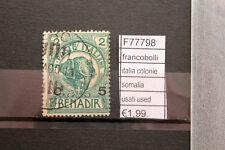 FRANCOBOLLI ITALIA COLONIE SOMALIA USATI USED (F77798)