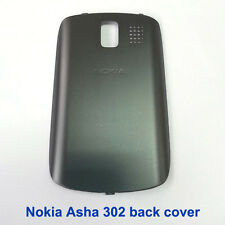 100% Genuine Nokia Asha 302 Back Battery Cover Fascia Housing - Dark grey