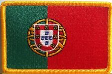 PORTUGAL Flag Embroidery Iron-On Patch Military Emblem Gold  Border