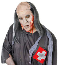 MENS ZOMBIE GHOST LONG GREY OLD MAN LURCH HALLOWEEN FANCY DRESS COSTUME WIG NEW