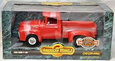 ERTL 1/18 1956 Ford F100 Pickup Truck Vermillion RED 7771 American Muscle 56 rc2