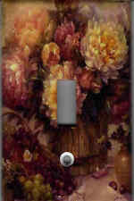 VICTORIAN FLORAL #2 - PURPLE BURGUNDY FLORAL DECOR SINGLE LIGHT SWITCH PLATE