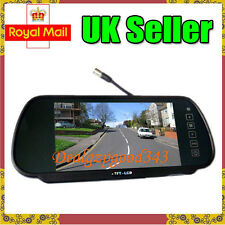"7"" TFT LCD Car Rear View Mirror Monitor 2CH For Reversing Camera Kit & DVD VCR"