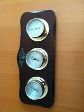Vintage Springfield Weather Instruments Thermometer Humidity Meter Wall Mount