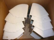 LOT of 8 Maxi-Lift Elevator Conveyer Buckets w/ Bracket - Animal Feed Containers