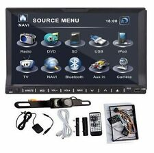 "GPS Navi+CAM+Sony Lens In Dash Double 2Din 7"" Car Stereo DVD Player RDS BT iPod"