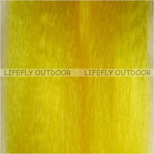 Yellow / Large Hank Synthetic Hair Super Hair, Fish Fibre Bucktail Fly Jig Bait