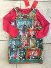 Oilily Ollys House Pinafore Dress And Top Age 4 Bnwt Girls Designer Clothes