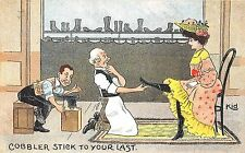 POSTCARD   COMIC   Cobbler  stick  to  your  last