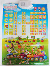 Russian Alphabet Talking Poster/Russian Electronic Mat/Educational  toys blue