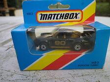 MATCHBOX LESNEY 1981 MB3 PORSCHE 911 TURBO état neuf en boite encore scellée