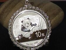 .925 STERLING SILVER ~ ROPE BEZEL w/BALE ~ FITS 1~OZ SILVER CHINA PANDA ~ $42.88