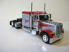 Peterbilt Flattop Model Tractor 1/64th Diecast Promotions Red Silver DCP #33393