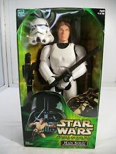 "Star Wars 12"" Inch POWER OF THE JEDI HAN SOLO IN STORMTROOPER DISGUISE ~ MISB ~"