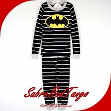 NWT HANNA ANDERSSON ORGANIC LONG JOHNS PAJAMAS DC COMICS BATMAN 130 8