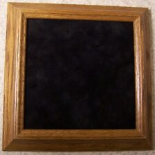 Military Shadow Box solid Oak frame black felt center NEW glass is NOT included