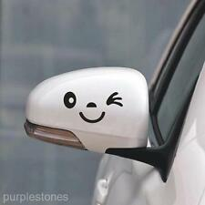 Black Smile Face Design 3D Decal Decoration Sticker for Car Side Mirror Rearview