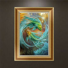 DIY 5D Diamond Embroidery Painting Fish Cross Stitch Kit Craft Home Decor