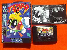 TEMPO megadrive Sega 32x Pal version Like NEW