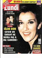 "CELINE DION  RARE LUNDI MAGAZINE "" APRIL 1995"" 16 PAGES"