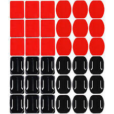 18 Pcs Helmet Accessories Flat Curved Adhesive Mount For Gopro Hero 3 4 5 SJ5000