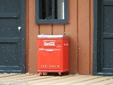 Vintage Coke Cooler Miniature 1/24 Scale G Scale Diorama Accessory Item