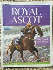 THE TIMES ROYAL ASCOT12-PAGE GUIDE HORSE RACING MCCOY ABLE FRIEND GODOLPHIN LEE