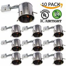 "10 PACK - 6"" inch Remodel LED Can Air Tight IC Housing LED Recessed Lighting- UL"