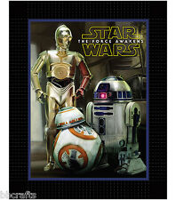 STAR WARS VII: THE FORCE AWAKENS No Sew Fleece Throw Blanket kit  BB-8 R2D2 C3P0