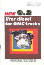 1982 GMC 6.2 Liter Diesel Truck Engine Brochure my3632