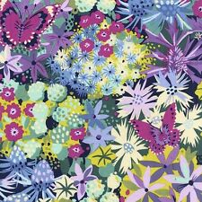 Michael Miller.Seaside Garden.Sea Holly.Floral cotton fabric in Navy.Per FQ