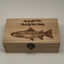 Fly Fishing Box Personalised gifts With 8 Free Flys