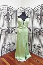 BD297 MORI LEE  LIME SZ 24 $228* HOMECOMING PAGEANT  PROM FORMAL GOWN DRESS NWT