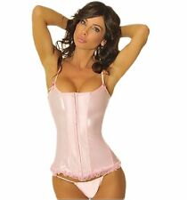 42(2X) Plus Size Pink Ballerina Costume Bridal Wedding Corset Steel Spiral Boned