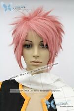 Fairy Tail Natsu Dragneel cosplay wig pink