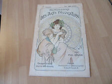 ORIGINAL LITHOGRAPHIE MUCHA 1900 ARTS DECORATIFS