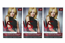 3 x VIDAL SASSOON SALONIST PERMANENT HAIR DYE COLOUR 8/0 MEDIUM NEUTRAL BLONDE