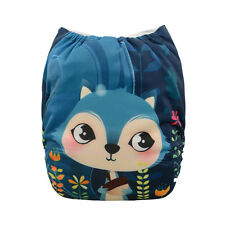 ALVABABY Cute Fox Onesize Reusable Washable Pocket Diaper Nappy +1Insert YD57